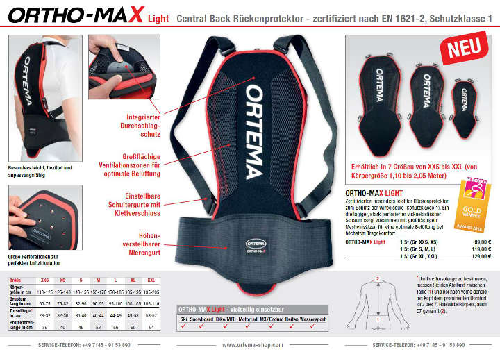 ortema ortho max light web
